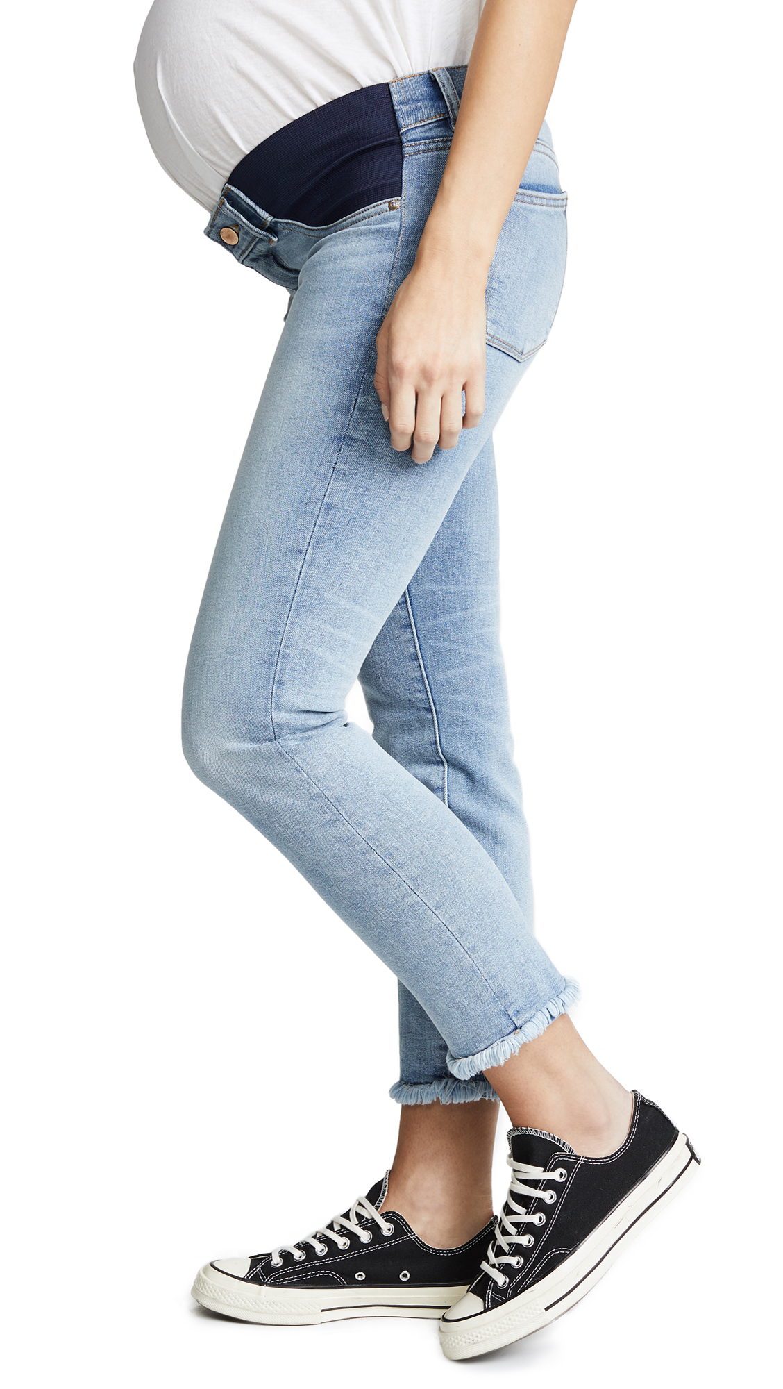 DL1961 Mara Straight Ankle Instasculpt Maternity Jeans In Promenade