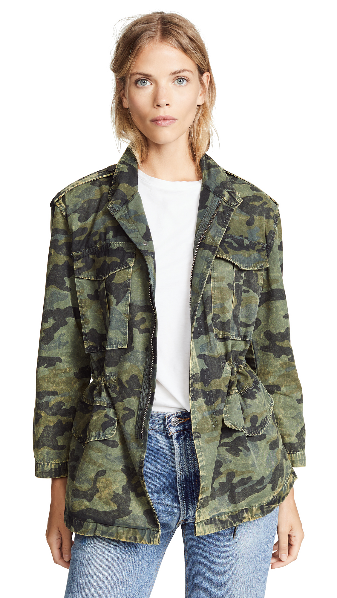 DL1961 Beekman Military Jacket In Camoflage