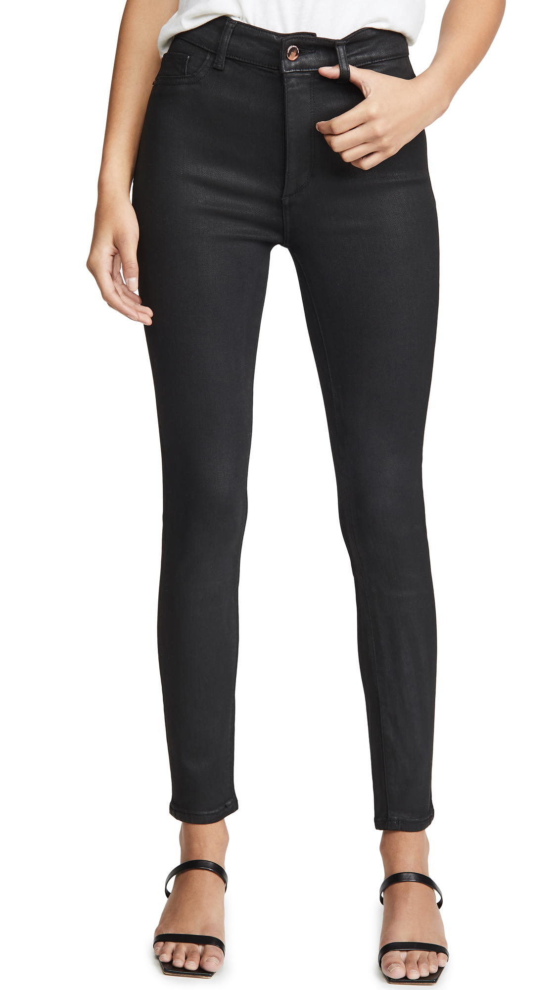 Buy DL online - photo of DL1961 x Marianna Hewitt Farrow Ankle High Rise Skinny Jeans