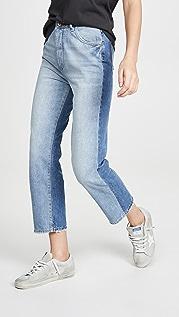 DL1961 Винтажные прямые джинсы Jerry с высокой посадкой