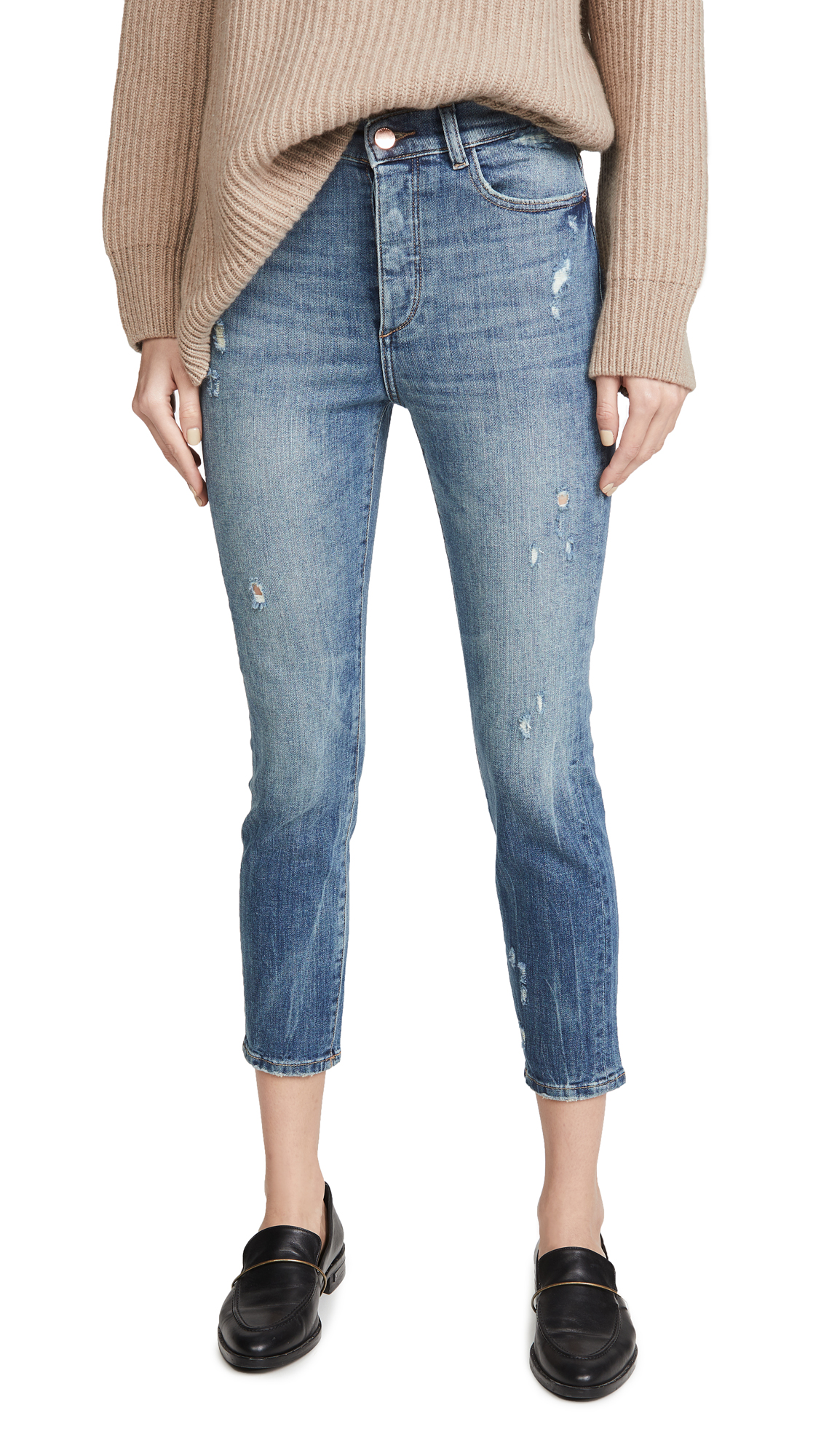 Buy DL online - photo of DL1961 Farrow Cropped Vintage High Rise Skinny Jeans