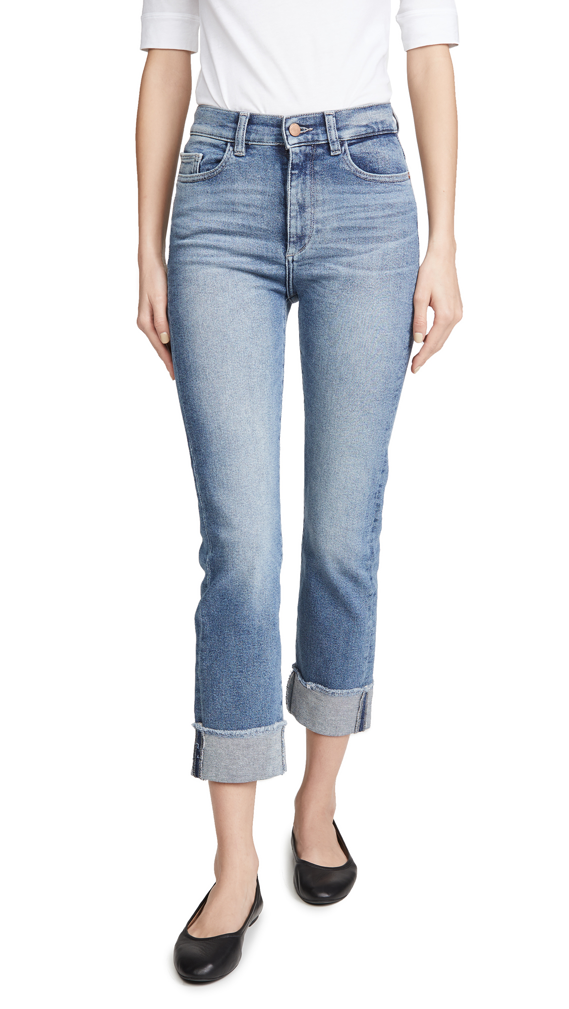 Buy DL online - photo of DL1961 Mara Ankle High Rise Straight Jeans