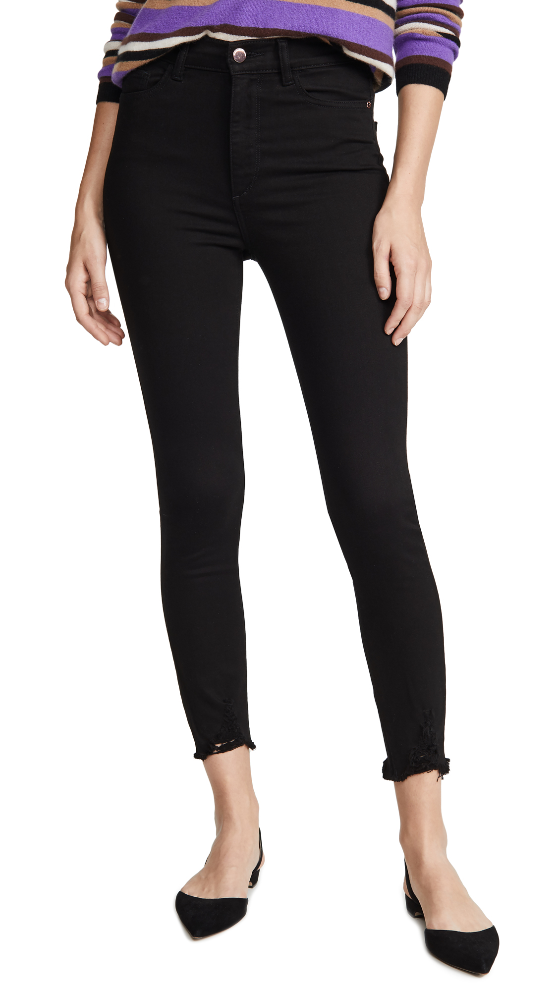 Buy DL online - photo of DL1961 x Marianna Hewitt Farrow Crop High Rise Skinny Jeans