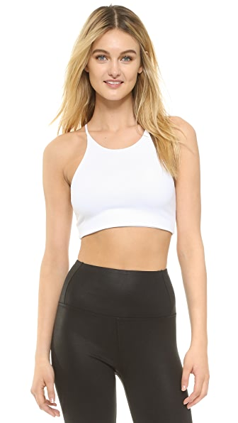 David Lerner Abbie Bralette Crop Top - Soft White