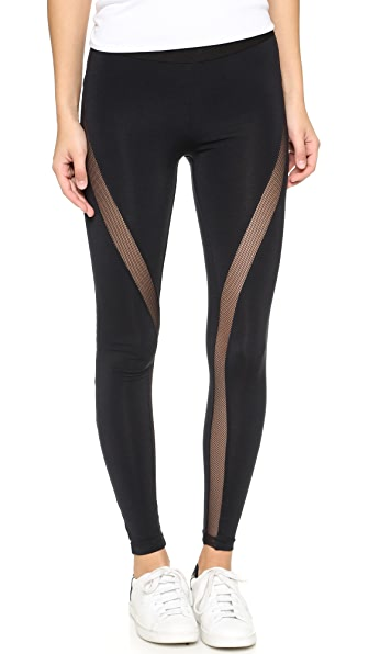 David Lerner Mesh Tribal Leggings - Classic Black