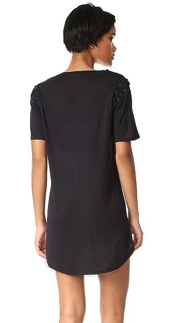 David Lerner Lace Up T-Shirt Dress