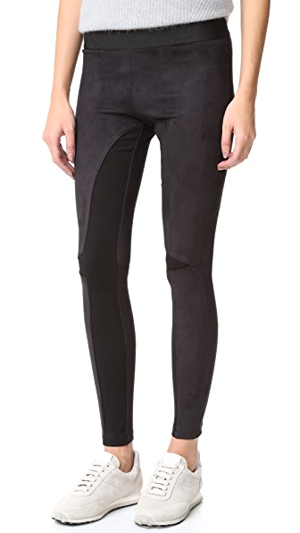 David Lerner Micro Suede Combo Leggings