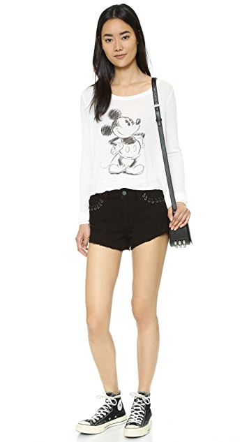David Lerner Mickey Long Sleeve Tee