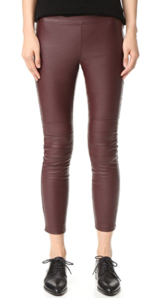 David Lerner Moto Legging with Back Zip