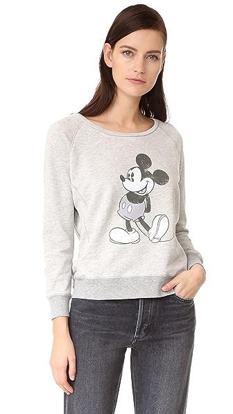 David Lerner Пуловер Mickey с рукавами реглан