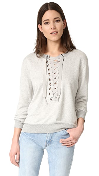 David Lerner Lace Up Sweatshirt