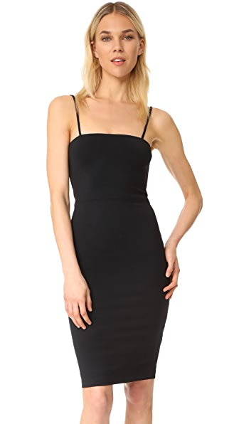 David Lerner Tank Dress with Back Zip In Classic Black