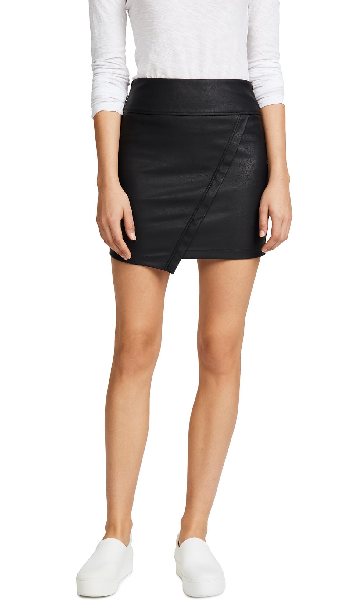 David Lerner Asymmetrical Wrap Skirt In Classic Black