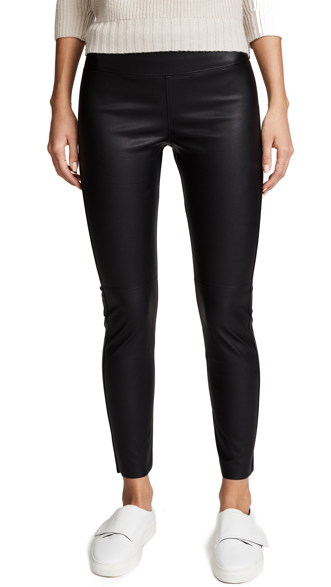 David Lerner Gemma Straight Leg Skimmer Pants - Classic Black