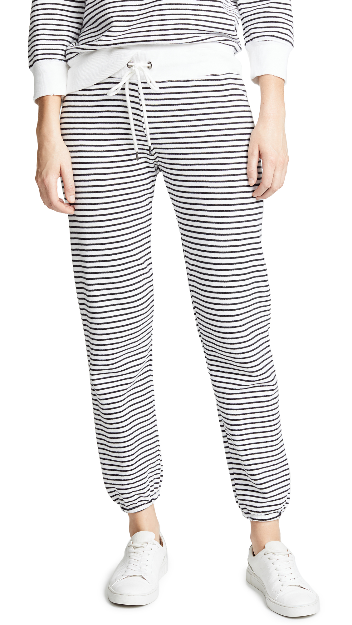 DAVID LERNER STRIPE CLASSIC SWEATPANTS