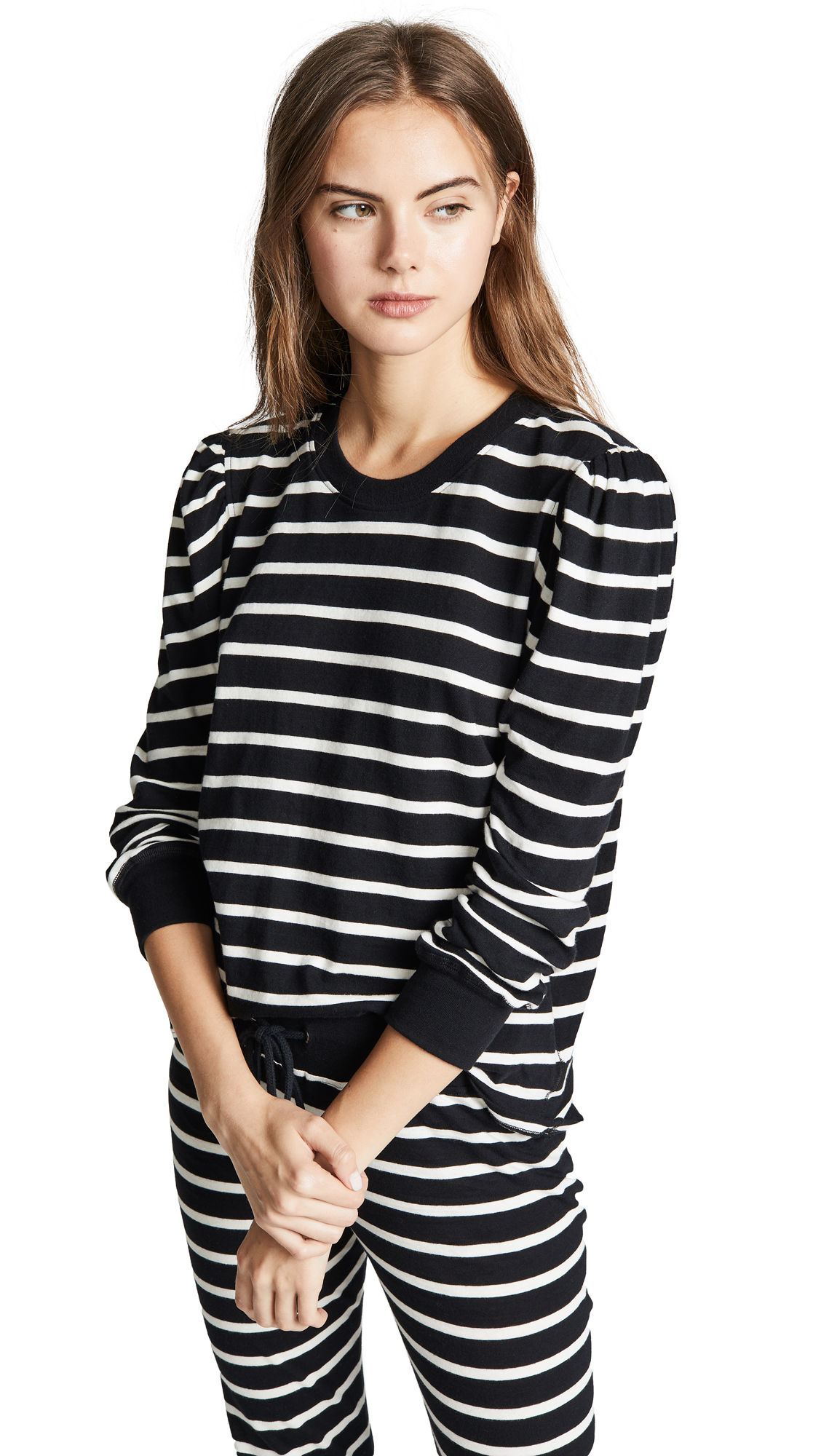 David Lerner Vanessa Top In Black/White Stripe