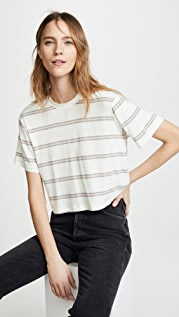 David Lerner Dropped Shoulder Crop Tee