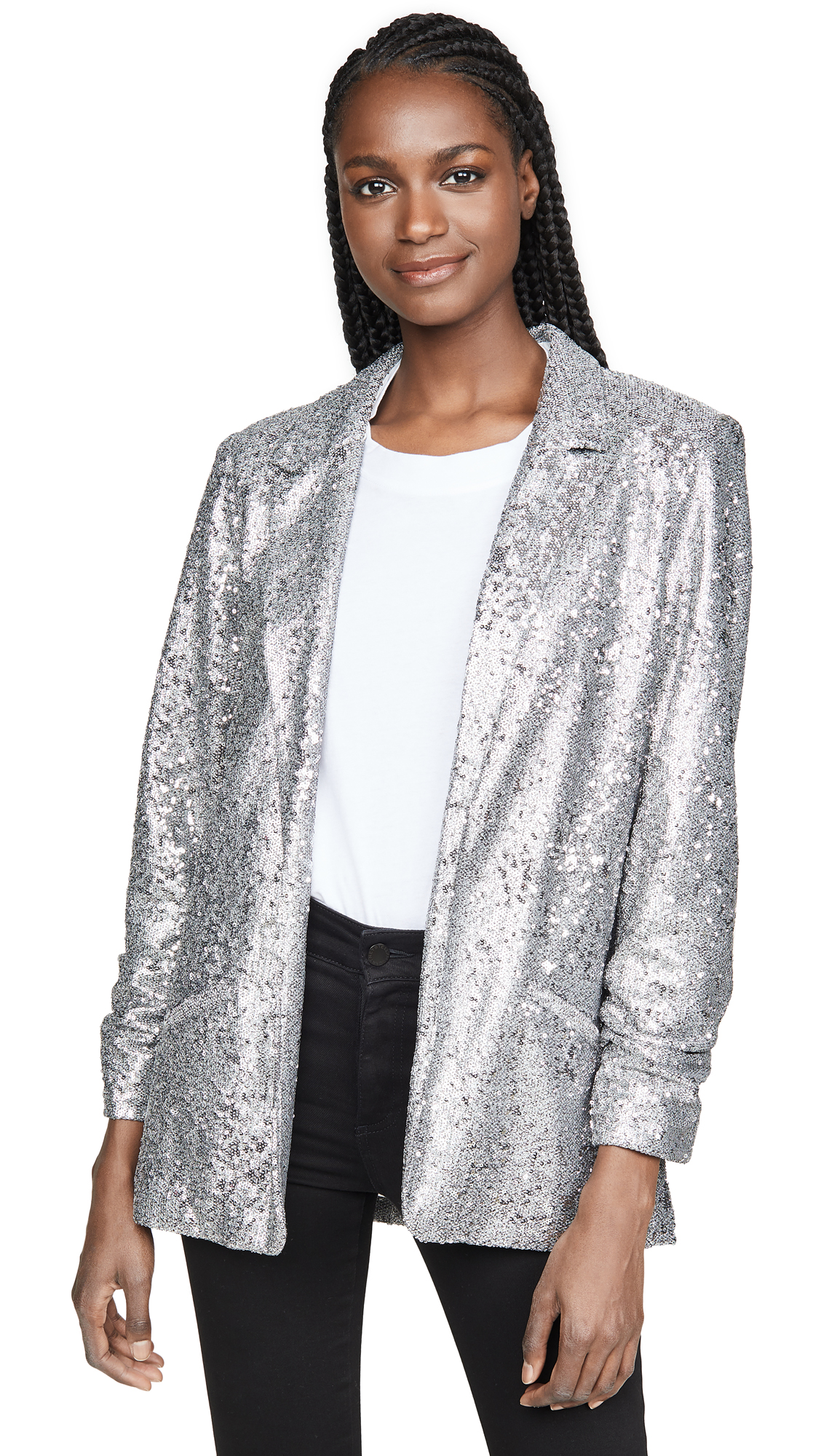 Buy David Lerner online - photo of David Lerner Hailey Oversized Sequin Blazer