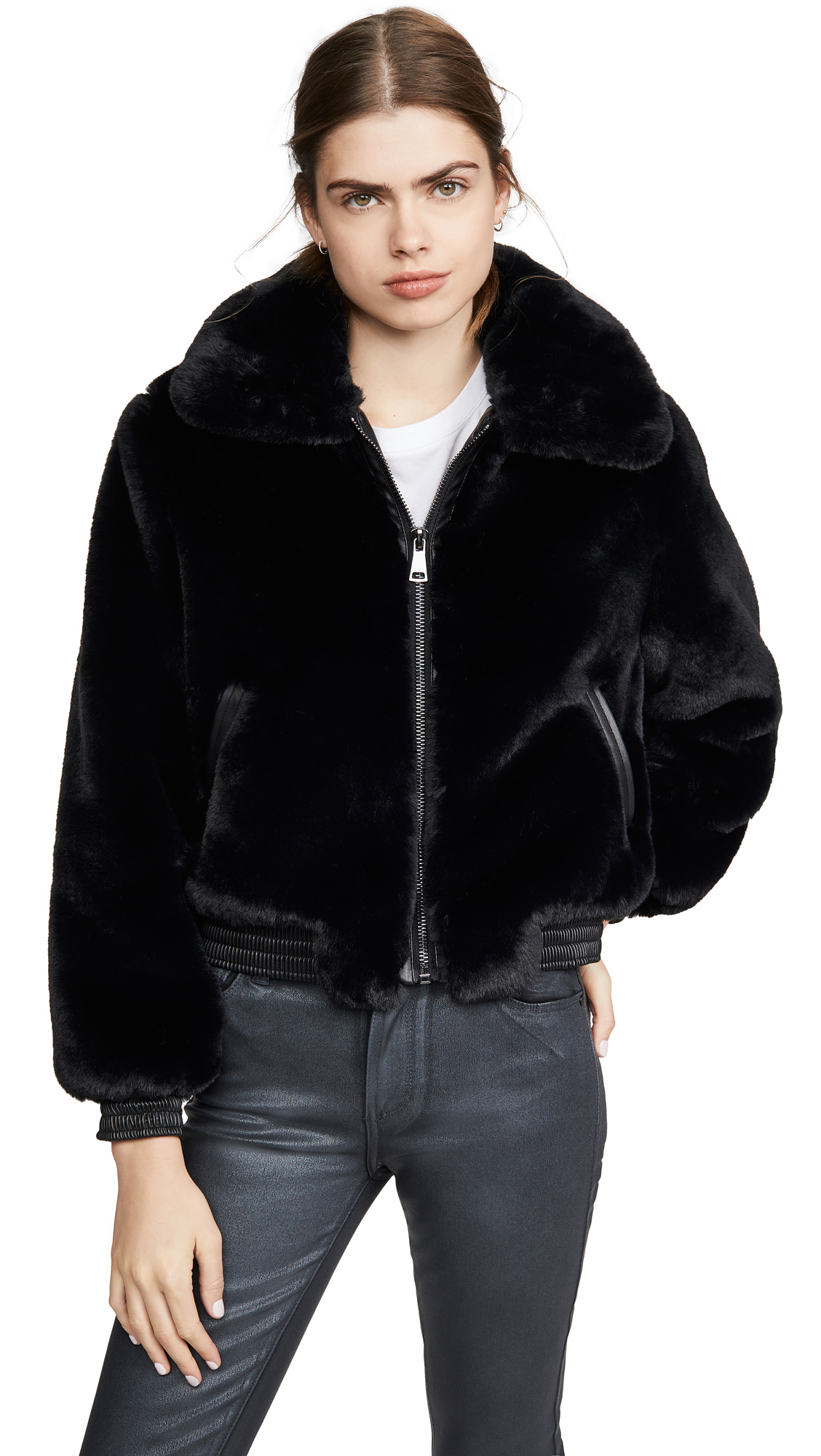 Buy David Lerner online - photo of David Lerner Maverick Avaitor JAcket w/ Vegan Trim