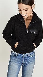 David Lerner Пуловер Andi с воротником под горло и молнией до половины длины