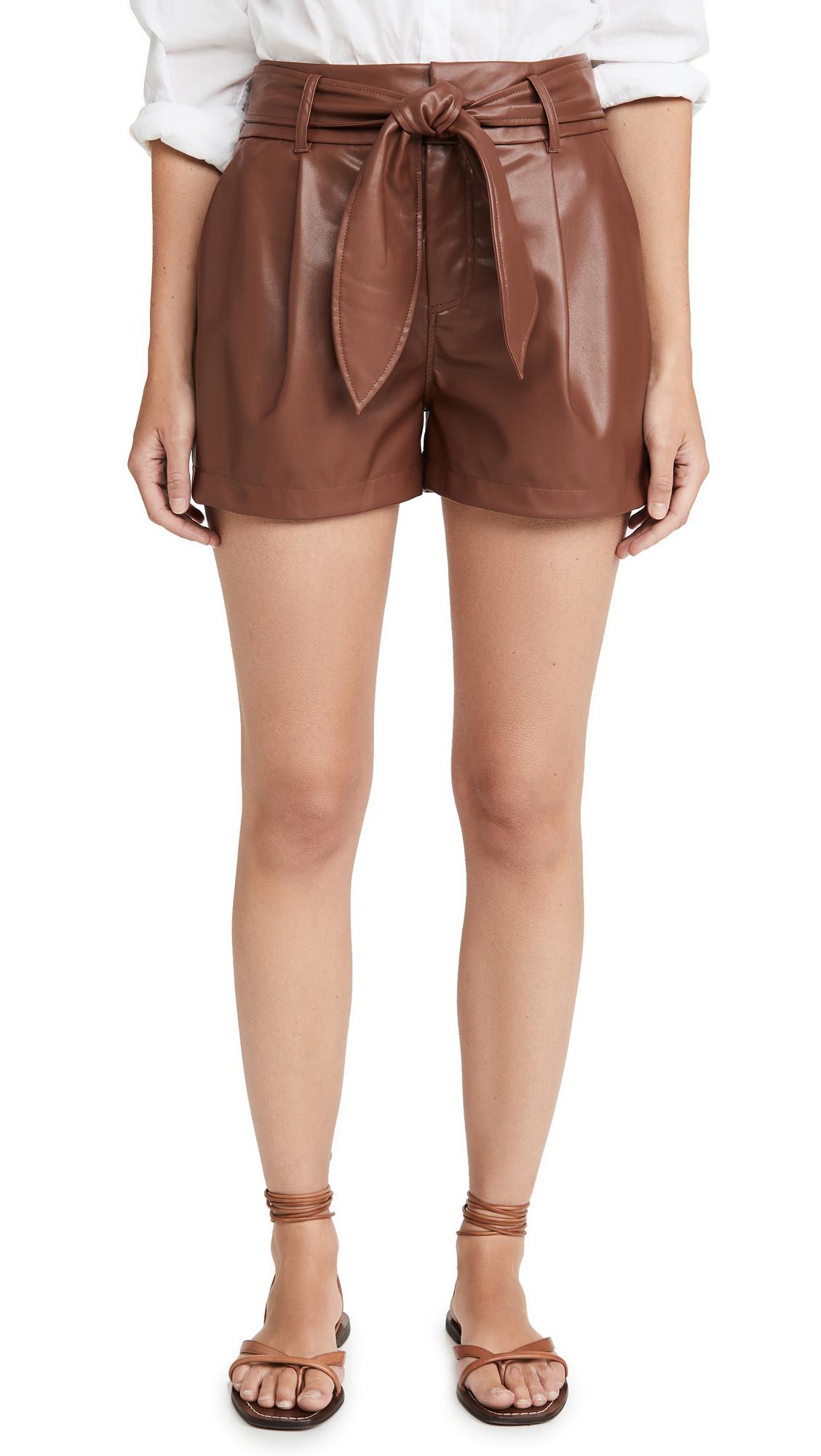 Buy David Lerner online - photo of David Lerner Lexi Pleated Belted Shorts