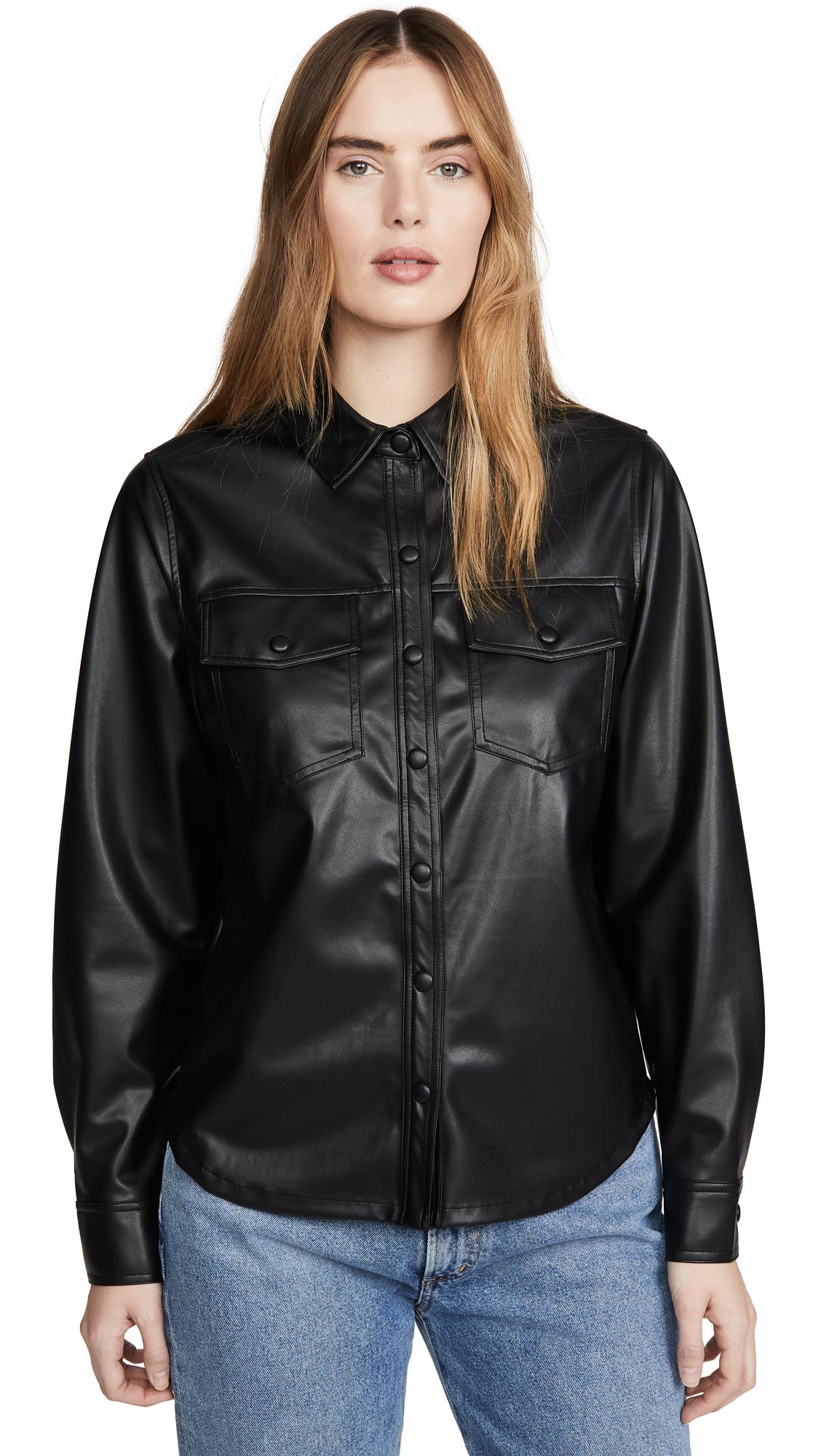 Buy David Lerner online - photo of David Lerner Jordan Button Down Shirt Jacket