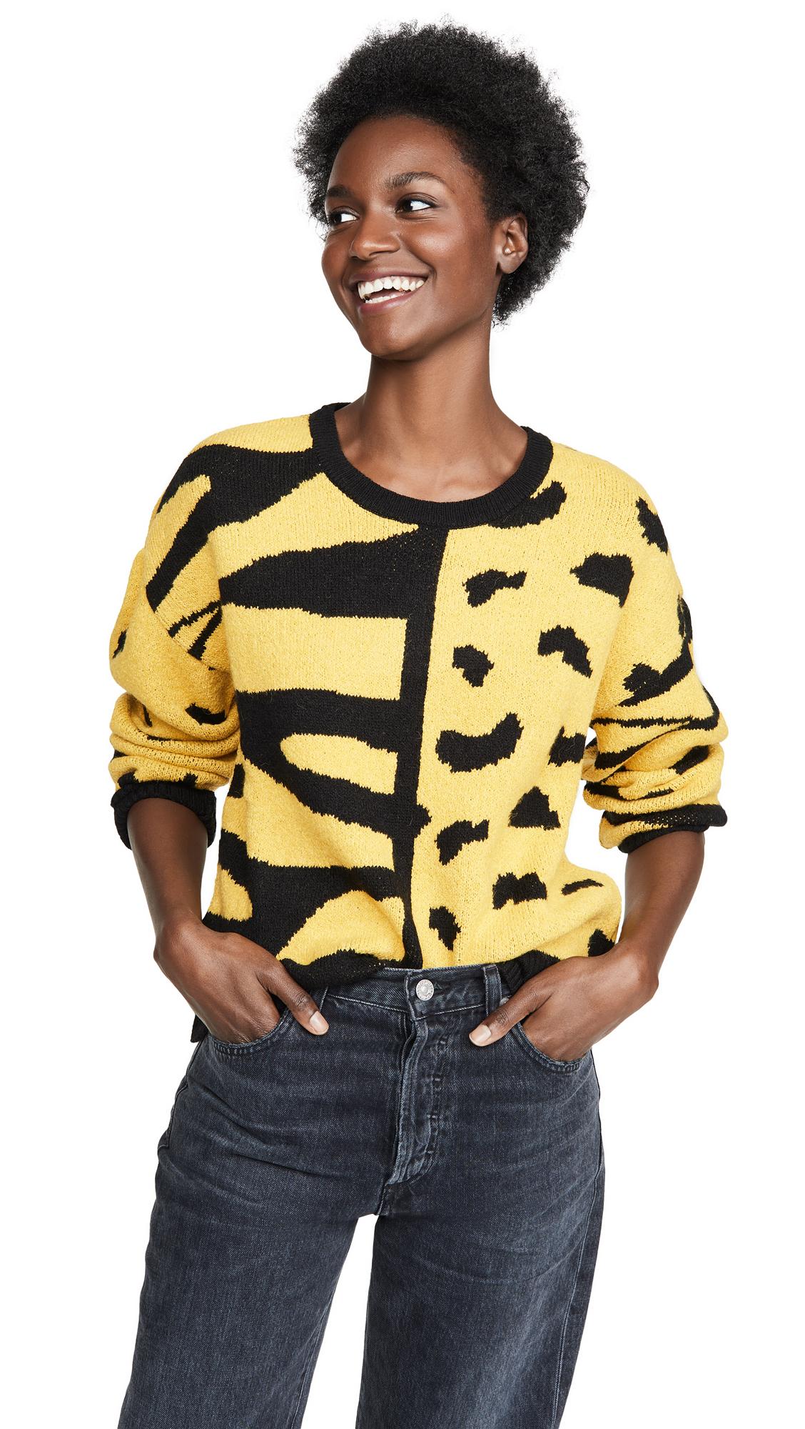 Buy DNA online - photo of DNA Zebra Leopard Mix Sweater