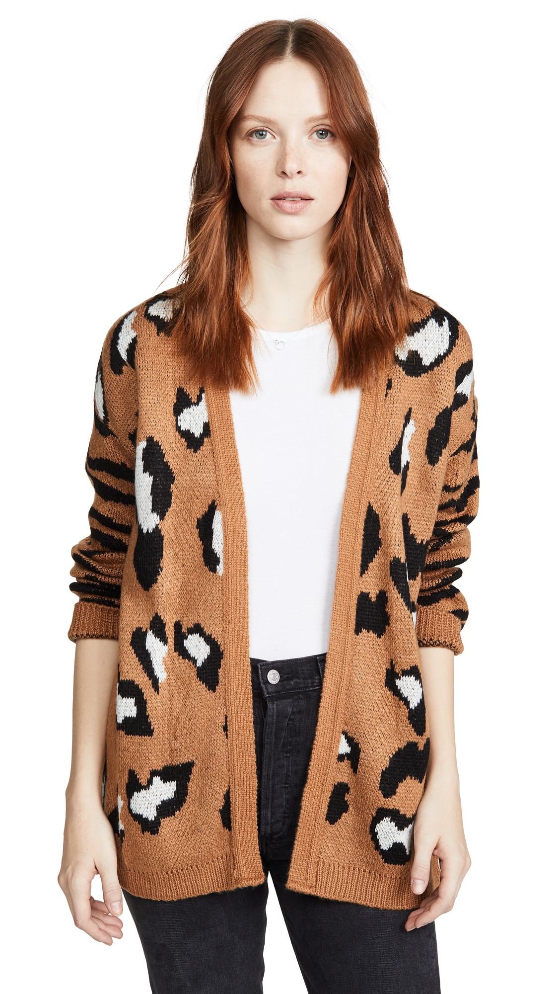Buy DNA online - photo of DNA Leopard Zebra Mix Cardigan