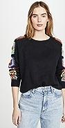DNA Black Crochet Sweater