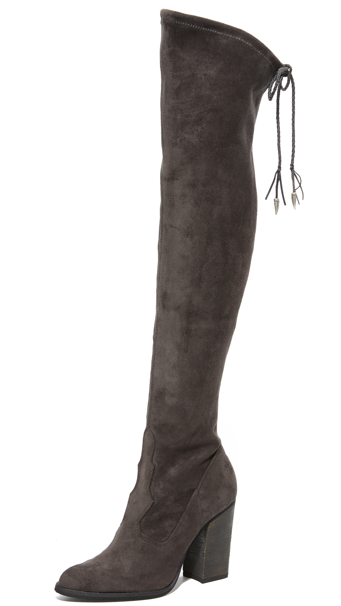 Dolce Vita Chance Over The Knee Boots - Anthracite