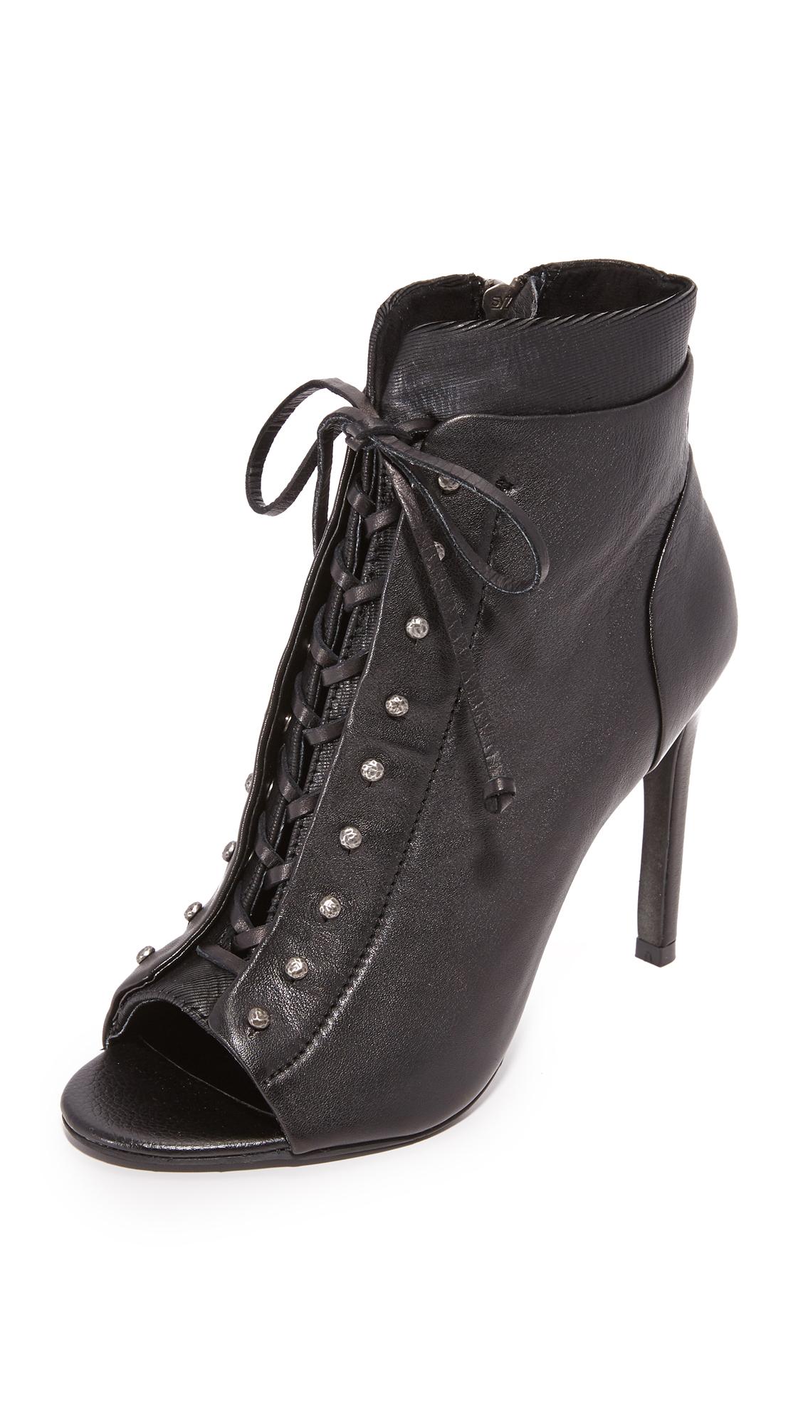 Dolce Vita Hampton Lace Up Heels - Black