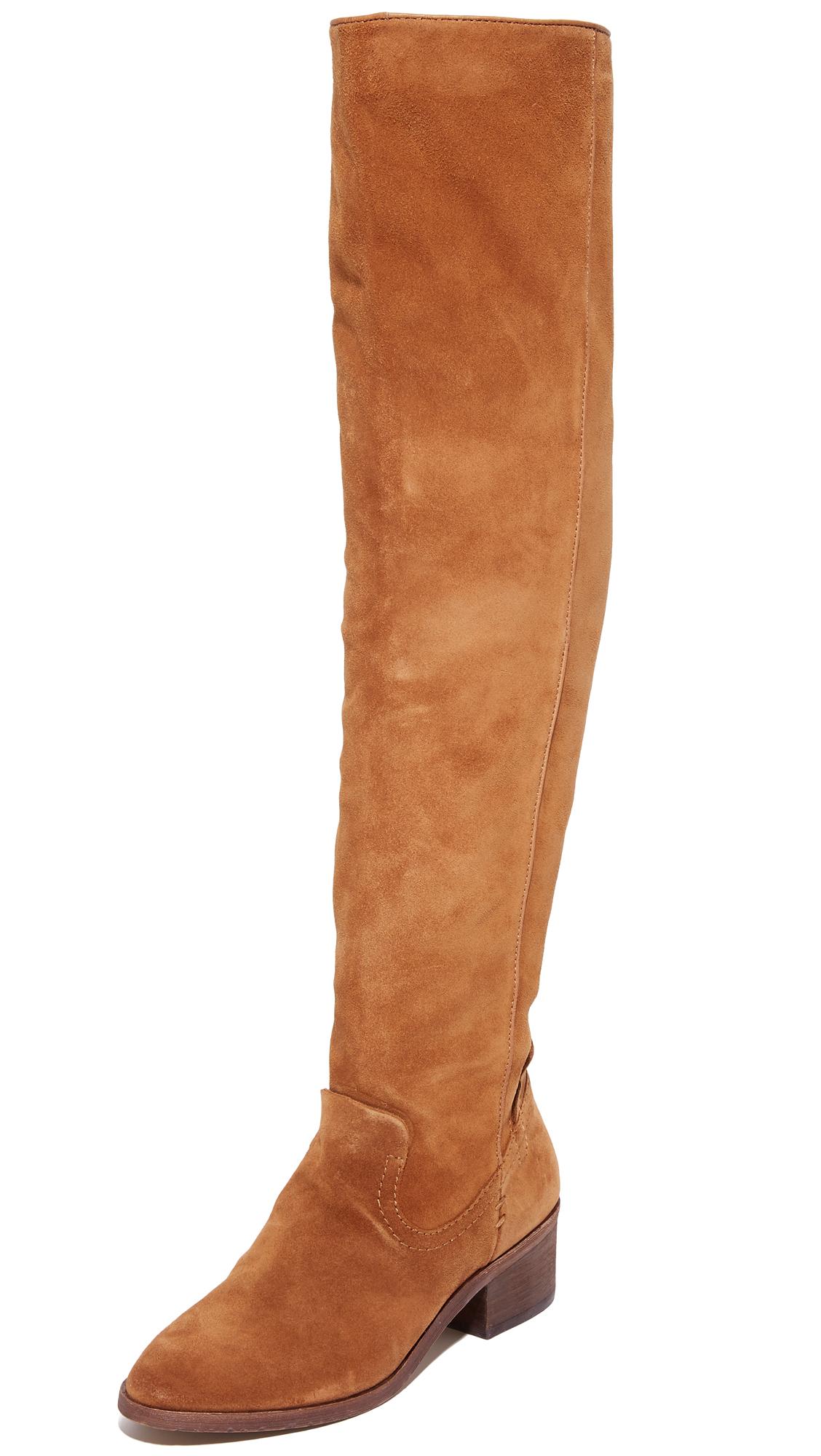 Dolce Vita Kitt Over The Knee Boots - Dark Saddle