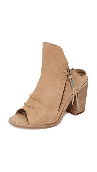 Dolce Vita Lennox Open Toe Booties - Light Taupe