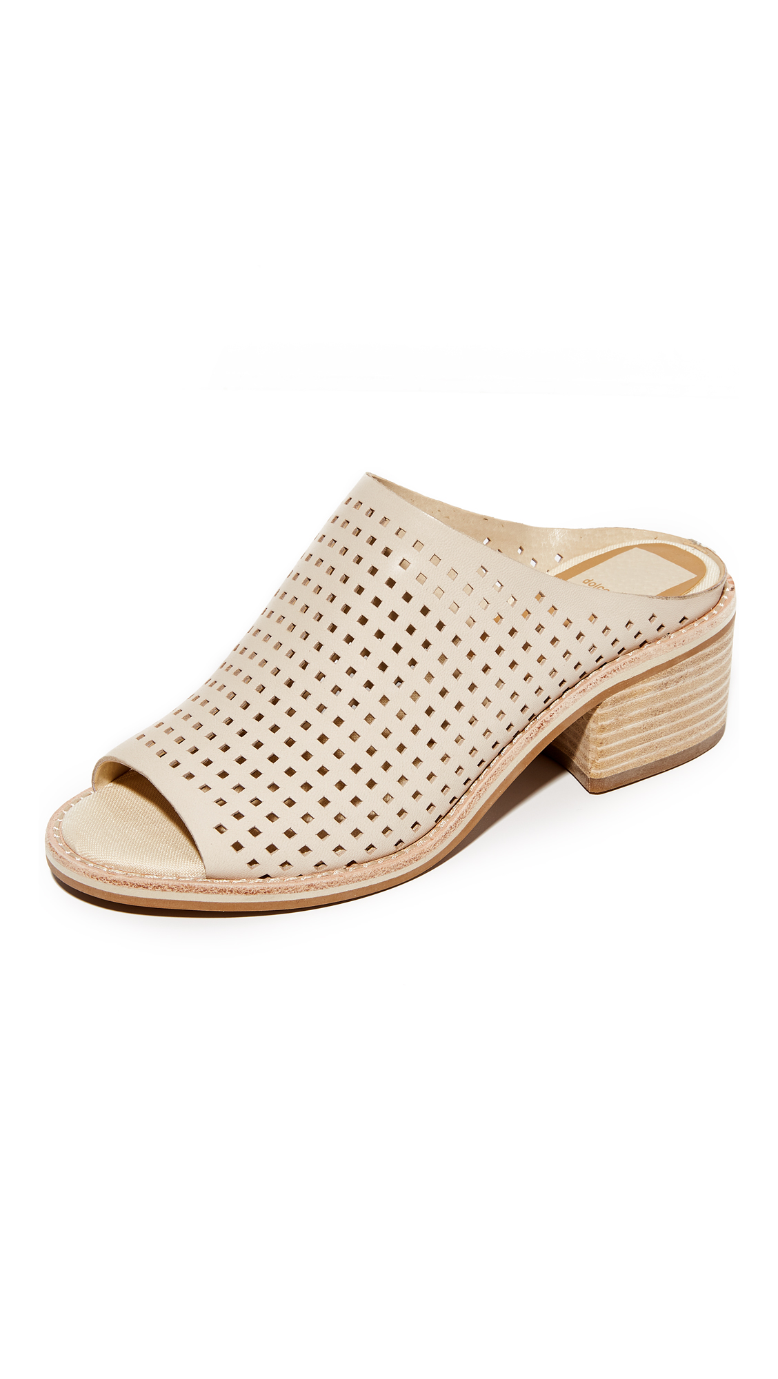 Photo of Dolce Vita Kyla Perforated Mules Off White - Dolce Vita online