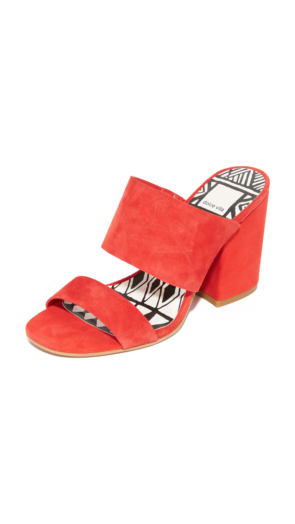 Dolce Vita Elize Mules - Red at Shopbop