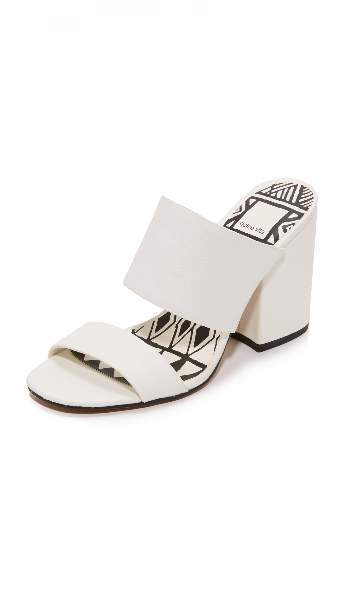 Dolce Vita Elize Mules - White at Shopbop