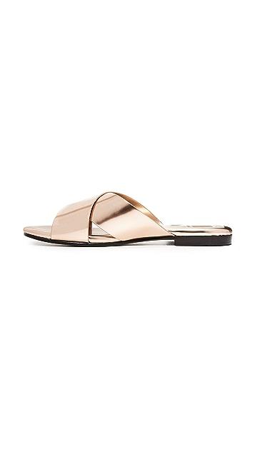 Dolce Vita Karlo Metallic Slide Sandals
