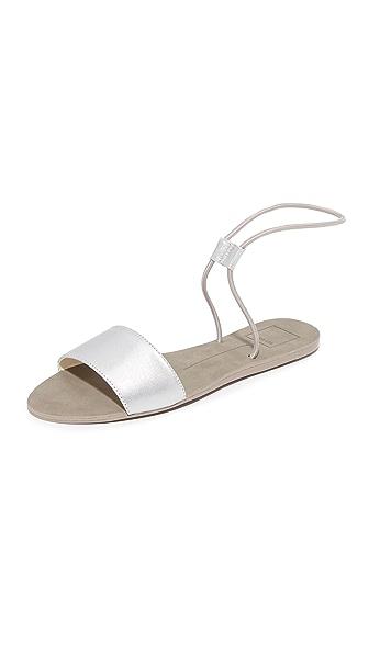 Dolce Vita Dara Elastic Sandals - Silver