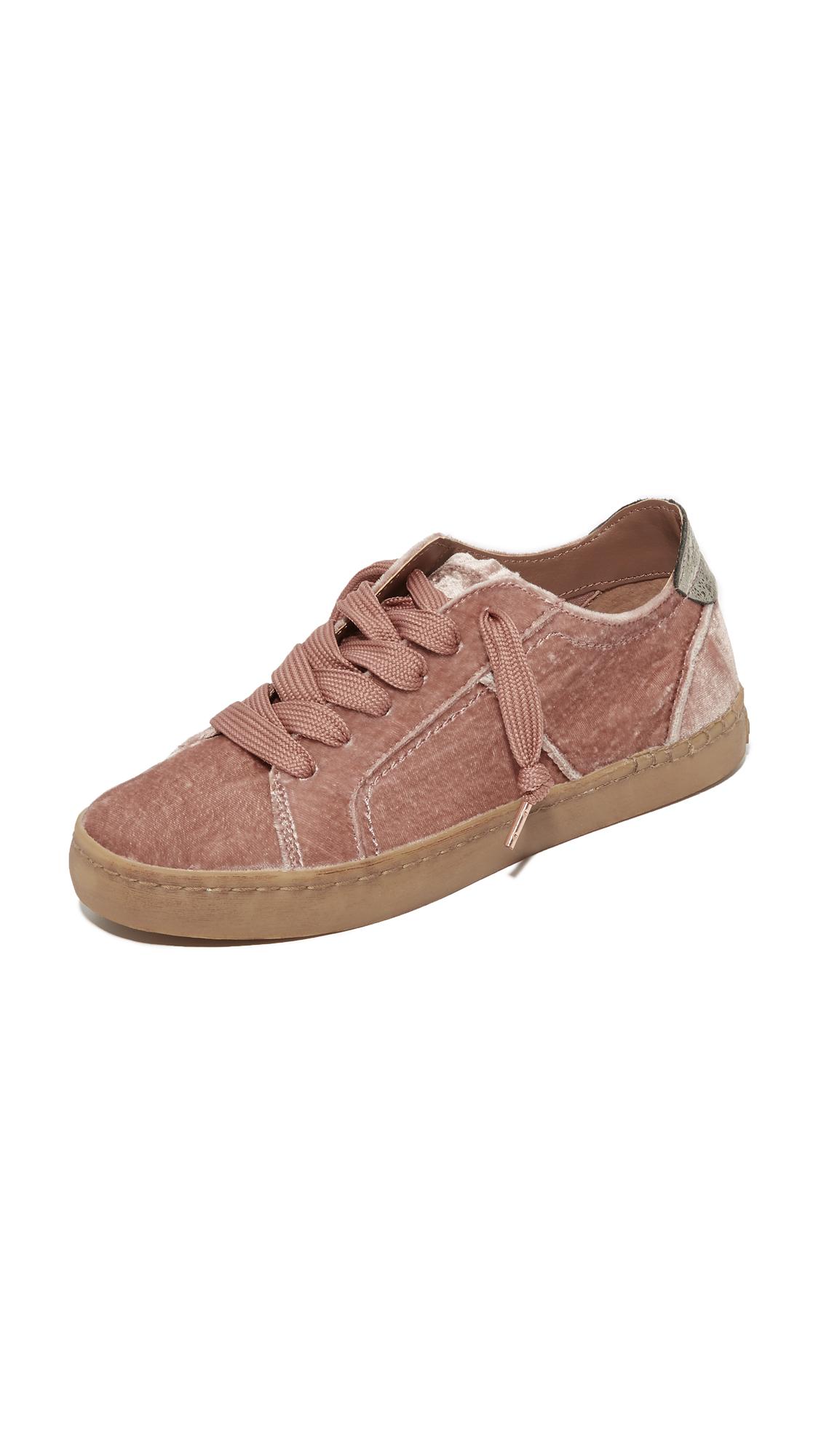 Dolce Vita Zalen Velvet Sneakers - Rose at Shopbop