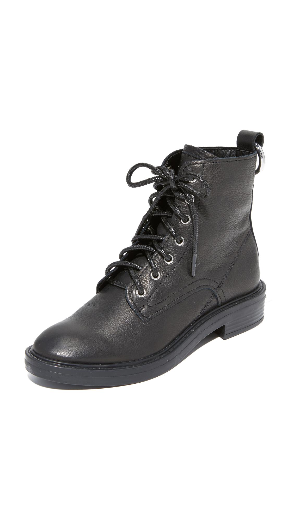 Dolce Vita Bardot Combat Boots - Black