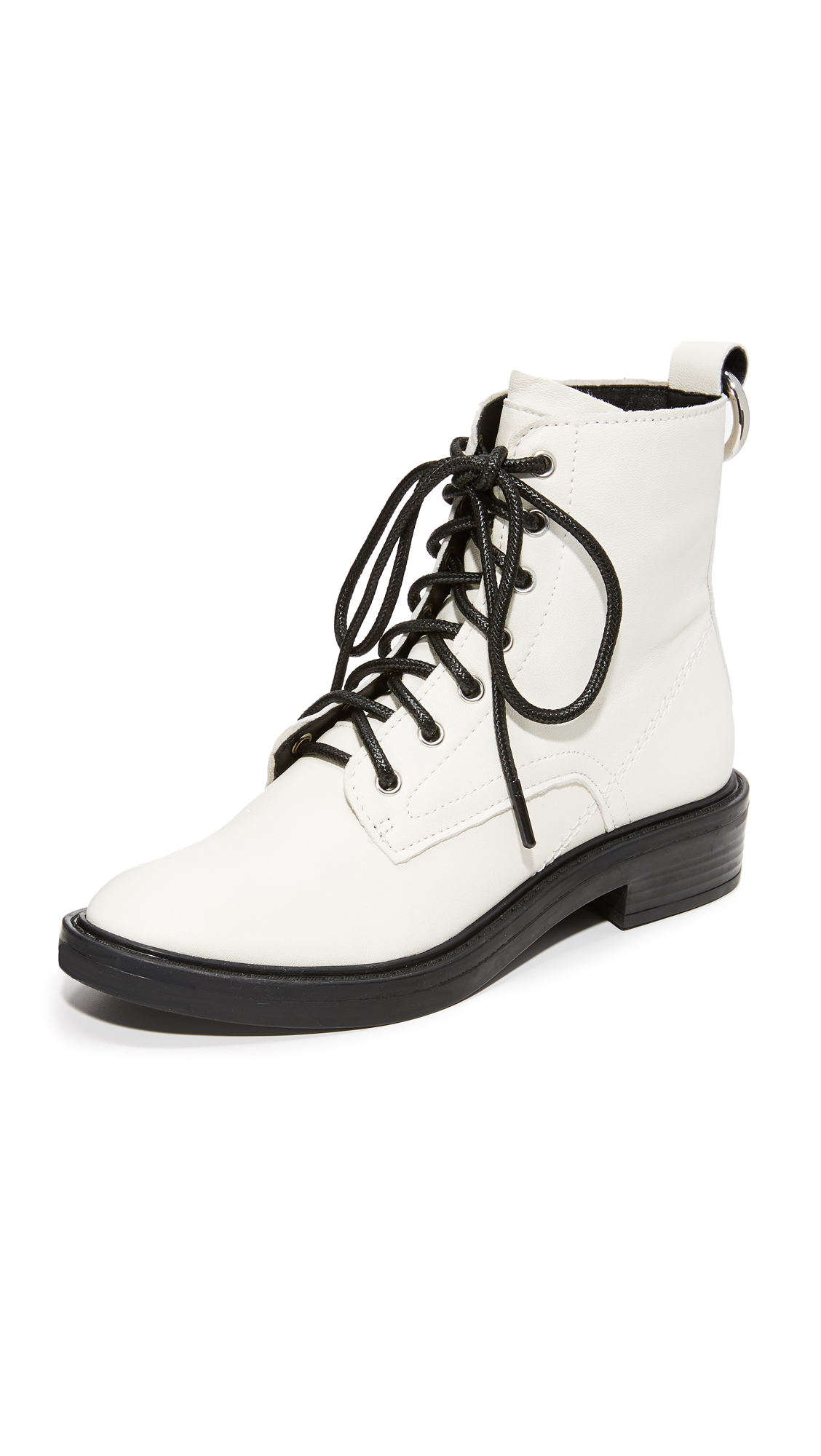 Dolce Vita Bardot Combat Boots - Off White