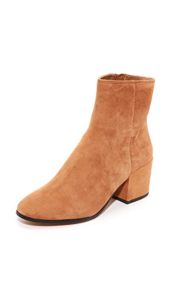 Dolce Vita Maude Suede Booties In Dark Saddle