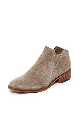 Dolce Vita Tay Suede Booties In Dark Taupe