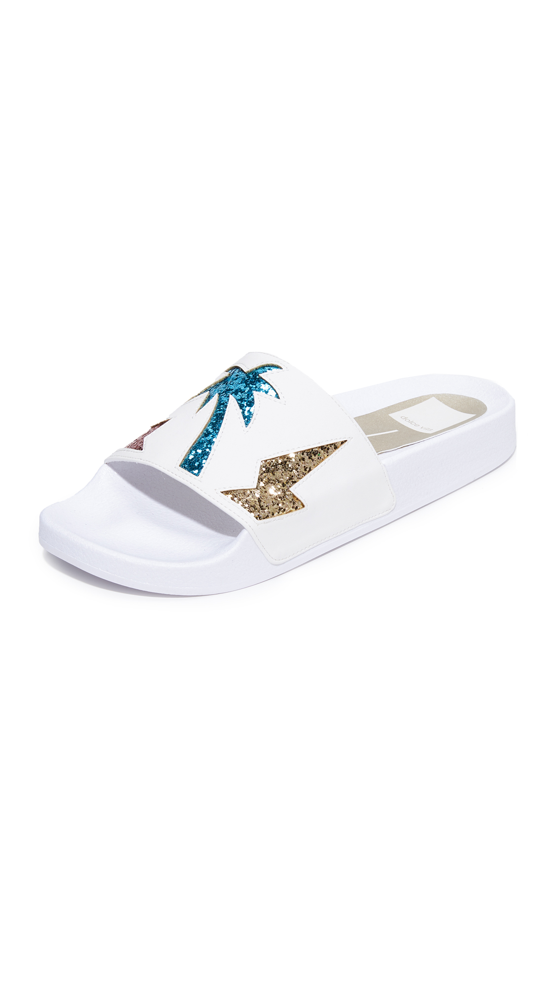 Dolce Vita Traci Slides - Metallic Multi