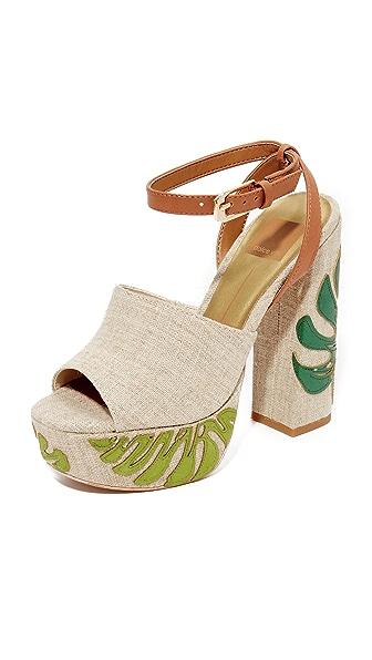 Dolce Vita Lando Platform Sandals In Green