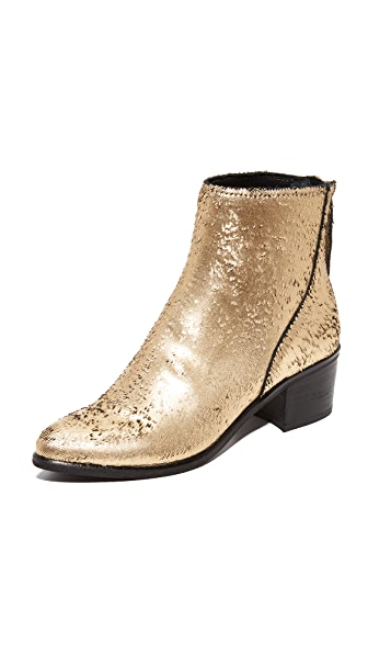 Dolce Vita Cassius Ankle Booties In Gold
