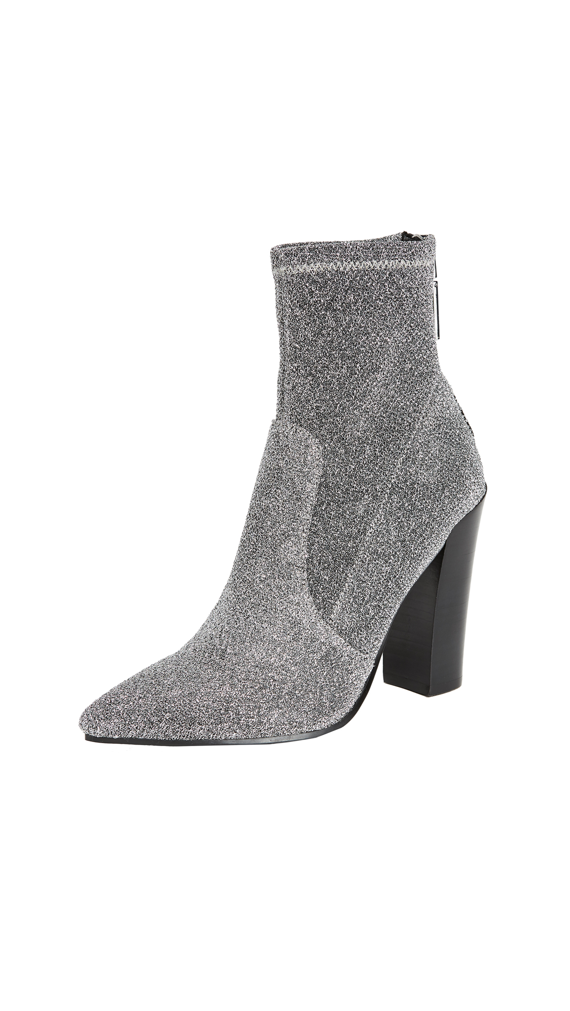 Dolce Vita Elana Stretch Booties - Pewter