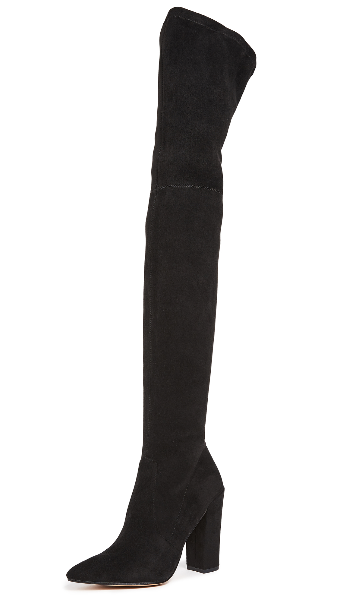 Dolce Vita Ellis Thigh High Stretch Boots - Onyx