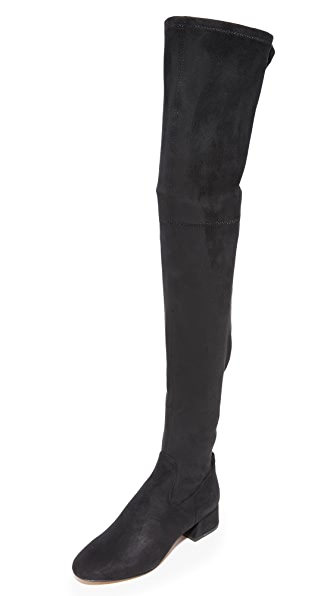 Dolce Vita Jimmy Over the Knee Boots - Black