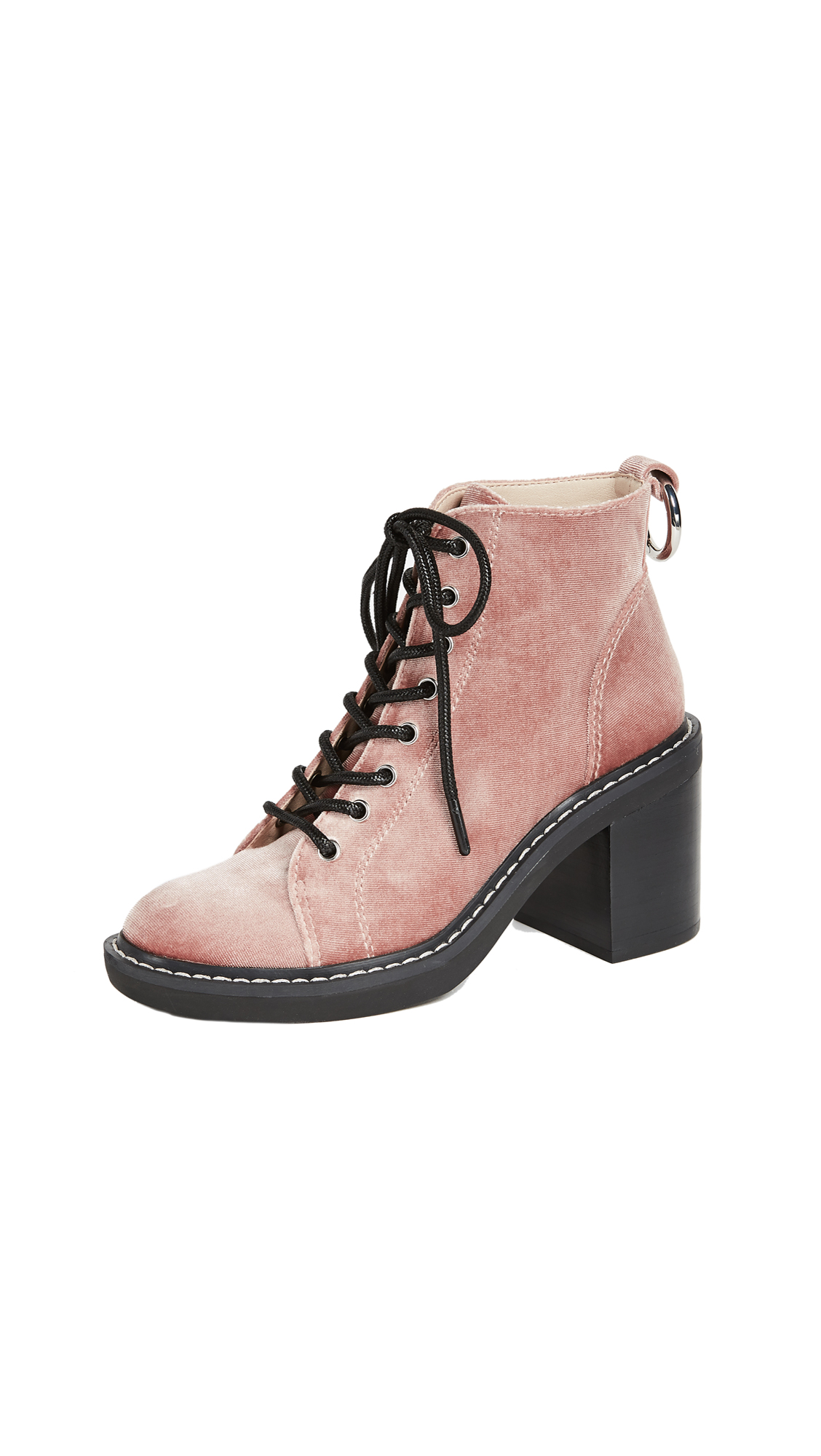 Dolce Vita Lynx Combat Heeled Boots - Rose